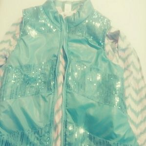 Self Esteem  Sea Foam Green puffer girl vest